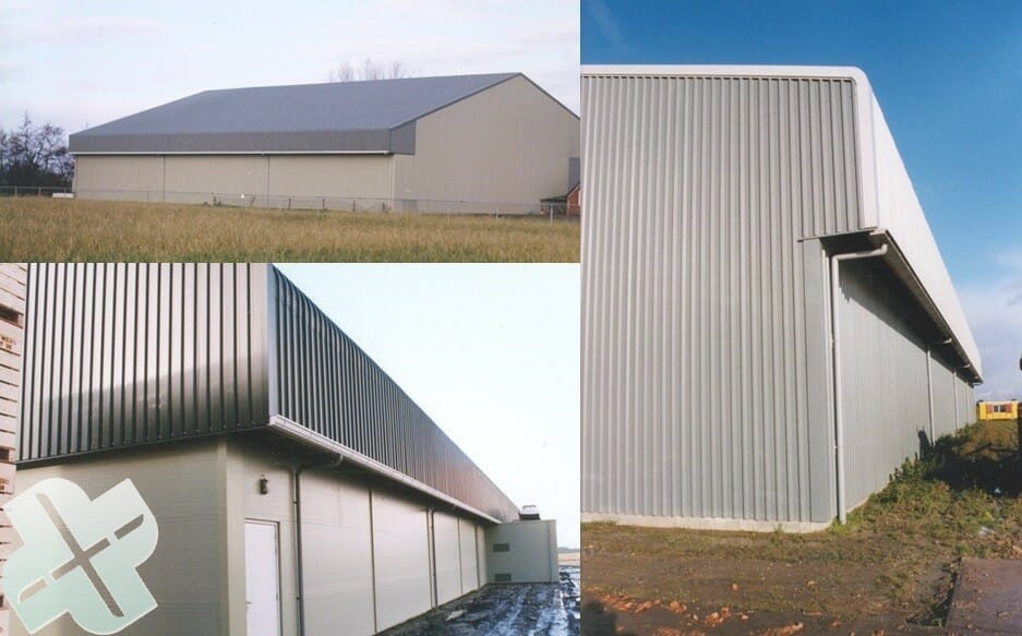 barn extension for the extraction of air to bulk dry and store bulbs seed medicinal plants potatoes garlic